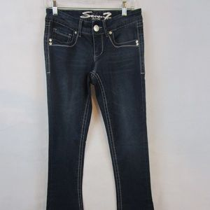 Seven 7 ~ Rocker Slim Stretch Jeans Size 4 Sequin